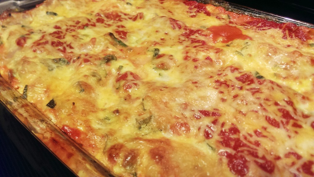 Eight Cheese Vegetable Lasagna